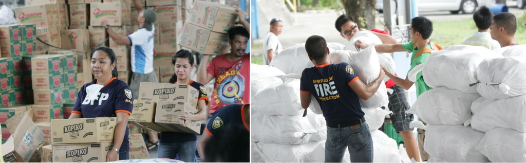 Boxes of Relief Goods (MNS Photo)