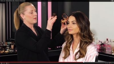 "Screenshot from ""Get the Look: A Bombshell Bronze Glow, Perfected by Victoria's Secret"" with Lily Aldridge ©2013 YouTube, LLC"