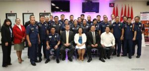 (1st from left) PSSUPT John G. Guyguyon (3rd frm L) Consul General Maria Hellen Barber De La Vega, and Deputy Consul General Daniel Espiritu, with members of the PNP-PSOSEC Class 2013- 86 and officials of the FBI.
