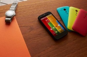 The Moto G had been expected in the United States in early 2014, but Motorola said its versions using GSM networks were being sold now. ©Motorola Mobility