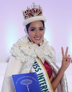 Miss Philippines' Bea Rose Santiago was crowned Miss International 2013