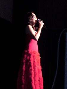 "Kuh Ledesma who acted as Elaine the mother of Vincent in the TV series singing ""One More Try"" the theme song of the drama show"