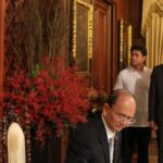 President Aquino welcomes Myanmar President Thein Sein in Malacanang Palace