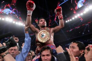 Manny Pacquiao seen here after winning his fight over Brandon Rios is Macau has disclosed that the Bureau of Internal Revenue wanted $50.2 million for his alleged unpaid taxes in 2008 and 2009, when he was at the peak of his career and one of the world's highest-earning athletes. He insisted he had paid his taxes in the United States, and so did not need to do so in the Philippines because the two countries have an agreement allowing their citizens to avoid double taxation.