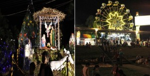 Christmas decors and amenities at Marikina Riverbanks.(MNS photo)