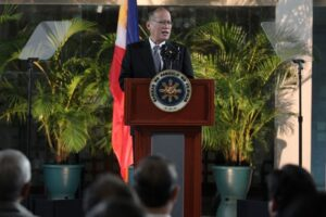 President Benigno S. Aquino III delivers arrival statement at the Ninoy Aquino International Airport on Sunday (December 15) from Tokyo, Japan where the Chief Executive attended the ASEAN-Japan Commemorative Summit. (MNS photo)
