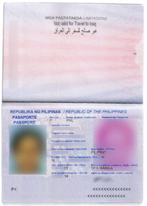 Philippine Passport Biometric Data Page from  Wikimedia Commons. The Department of Foreign Affairs said on-machine readable passports to be phased out by late by 2015.