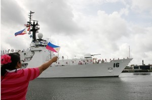 "The Philippines Saturday said a new Chinese rule requiring foreign fishing vessels to secure permission to enter much of the South China Sea was part of a long-term scheme to claim the entire body of water. China's territorial claims over the South China Sea overlap those of the Philippines, which has been locked in an increasingly tense standoff with China involving disputed reefs and islands in the South China Sea, which Manila calls the West Philippine Sea, and has been beefing its Navy forces with ""new"" ships courtesy of the United States like the BRP Ramon Alcaraz shown here."