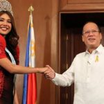 Aquino meets Miss Tourism International Angeli Dione Gomez