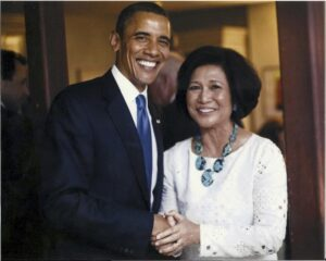 US President Barack Obama and Loida Nicolas Lewis