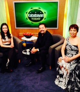 Ruben and Janet Nepales as guests on guest on Kababayan Today's Academy Awards Special with TV host Jannelle So