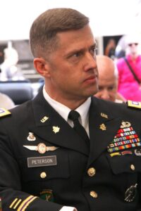 Lt. Colonel J. Scott Peterson,  Commander of the U.S. Army Recruiting Battalion in L.A.