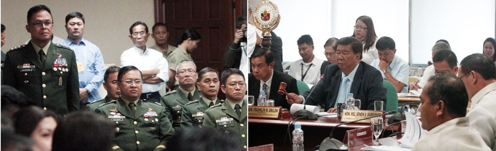 Senate President Franklin Drilon, chair of the Commission on Appointment, confirmed on Wednesday (Feb. 19) the appointment of Lt. Gen. Gregorio Pio P. Catapang, Jr. and 17 other Generals/Flag and Senior Officers in the Armed Forces of the Philippines at the Senate Bldg., Pasay City. (MNS photo)