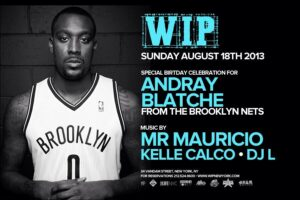 Andray Blatche of the New Jersey Brooklyn Nets and seen here on a 2013 invite to his birthday bash is reported to have asked to be naturalized as a Filipino citizen.