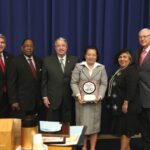 Los Angeles Board Of Supervisors presents plaque to Congen De La Vega
