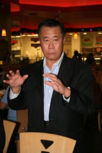Senator Leland Yee during a recent meeting with members of the Filipino-American media in Eagle Rock, a district of Los Angeles, north of downtown.  Considered as a friend by many in the community, Sen. Yee was arrested by FBI agents on Wednesday and court documents showed that he's facing gunrunning charges where the weapons were allegedly coming from Muslim rebels in the Philippines.