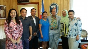 Joyleen Santos Vice Consul Philippine Consulate General, Honolulu, Manny Ilagan Deputy Director of DOT, Azham Ishak Deputy Director Western USA, Latin America Malaysia Tourism Promotion Board , Annie Cuevas Director DOT, Julius D Torres Consul General Philippine Consulate General, Azilina Abidin Vice President Western USA Latin America Malaysia Tourism Promotion Board, Jane Stark President of Travel International Group.
