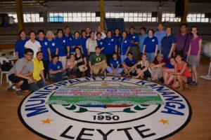 2014 Humanitarian Mission Team spearheaded by Dr. Edgar Banez, Overall Team Coordinator and Past President of UERM MAASC; Dr. Neda Ballon-Reyes, UERM MAAA National President; Dr. Tarcisio Diaz, President of UERM MAASC; Art Banez, Local Mission Coordinator; and Pedro Ramirez, Team Coordinator for Relief Operation and Director for St. Vincent MHAP Center.