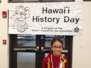 Illima Navalta Briones during Hawai'i History Day (www.gofundme.com)