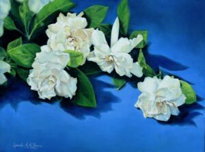 Reyes Lynda AN-Gardenias for Mom-oil-