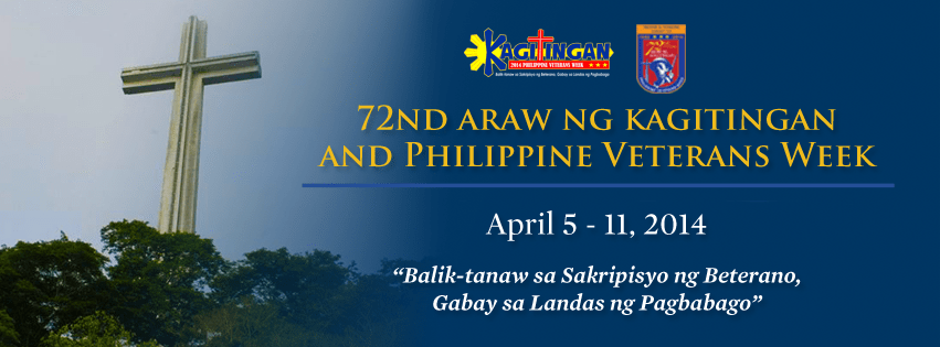 Courtesy of 2014 Philippine Veterans Week and 72nd Araw ng Kagitingan Facebook page