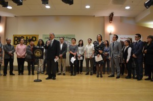 San Francisco Mayor Ed Lee joined by Board Supervisors, the Filipino Community Center (FCC), Chinese for Affirmative Action and Filipino community leaders and supporters as he announces San Francisco's certification of Filipino as the third language required for city communications.