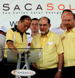 Aquino was in San Carlos City where he led a ceremonial switch-on of the 22-megawatt (MW), $45-million San Carlos Solar Energy Inc. (SACASOL) (MNS Photo)