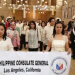 "Philippine Consulate General in Los Angeles attended the 10th Archdiocesan Filipino Marian Celebration of ""Santacruzan"""