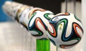 "The Adidas FIFA World Cup ball ""Brazuca"" ©AFP PHOTO/CHRISTOF STACHE"