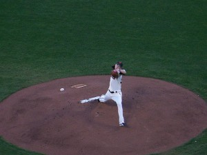 Tim Lincecum pitching in September 2010 (Brewers @ Giants)  http://commons.wikimedia.org/wiki/File:Lincecum2010.jpg