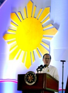 President Benigno S. Aquino III while delivering his speech during the Federation of Filipino-Chinese Chambers of Commerce and Industry, Inc. (FFCCCII) joint celebration of the 116th Philippine Independence Day & 13th Filipino-Chinese Friendship Day at the Tent City of The Manila Hotel in Rizal Park, Manila City on Tuesday (June 10).