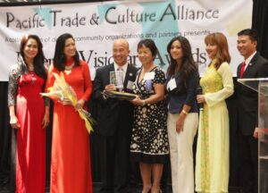 Asian Achiever: Orange County's Asian-Pacific Islanders achievers in various fields were recognized for their contributions to the community at the awards ceremonies highlighting the celebration of the Asian Pacific Islanders Heritage Month at the South Coast Plaza Shopping Mall recently. The event was organized by Pacific Trade and Culture Alliance in cooperation with their business and professional organizations in the county and had become a showcase for the colorful and artistic heritage of Asian culture.