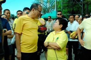 "President Benigno Aquino III and Social Welfare Secretary Corazon ""Dinky"" Soliman (MNS Photo)"