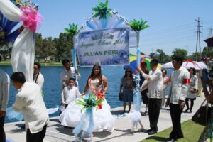 Reyna Elena - Jillian Manalang ,Philippine Society of Southeast Los Angeles (PHILSELA) show cased one of the Philippines' most popular cultural traditions, the Santacruzan last Saturday, May 31, in Cerritos.