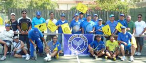 BUENA PARK TENNIS CIRCLE TOURNEY: Circle: One of the most active tennis clubs at the Boisseranc Park in Buena is the Buena Park Tennis Circe whose membership continues to grow under the leadership of Cesar Ramico, Coordinator: Rico Taruc, Public Relations Officer, and Rey Surambao, Finance Officer. An on-going tournament, one that comes on the heels of the previous successful tourney, will keep the members busy for the days ahead wielding their tennis racquets.