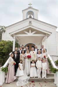The family  (Mr. & Mrs. Perkins' Wedding by KLK Photography)