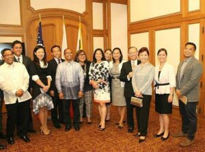 TFC Pistahan Legacy Proj Team with San Francisco government officials David Chiu and Jane Kim Con Gen Jaime Ramon Ascalon ,community leaders led by Al Perez, Marily Mondejar Pistahan-Hermano and Hermana Mayors Dennis and Lynda Nor (photo courtesy of http://abscbnpr.com/)