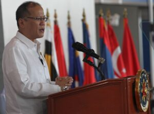 President Benigno S. Aquino III deliver his message during the Opening Ceremony of the Asian Defense,Security, and Crisis Management Exhibition and Conference held at World Trade Center in Pasay City on Thursday July 17, 2014. Photo By: Ryan Lim/ Malacanang Photo Bureau