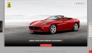 Ferrari invites car fans to build their ideal version of the California T through a new online configuration tool. ©Ferrari