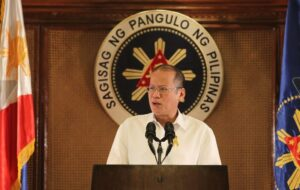 President Benigno S. Aquino III addresses the nation during a press briefing at the Heroes Hall of the Malacañan Palace on Monday (July 14). (MNS photo)