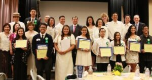 PHILSELA awardees: Tiffanie Louise Abacan, Whitney High School; Bernard Louie Bagorio, Cerritos High; Kristen Danielle Carlos, Cerritos High; Monique Ann Demaisip, Gahr High; Jillian Perl Manalang, St. Joseph High; Rodel Manalo Jr, St. John Bosco; Matthew Nocon, Cerritos High; Beah Tolentino, Whitney High; Eriel Lois Uy, Cerritos High; Lowell Palacpac, UCLA Civil Engineering; and Tatiana Yokoyama.