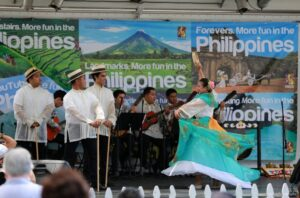 Cultural extravaganza of Philippine traditional dances and music performed by the group PASACAT during the 34th Lotus Festival of Los Angeles