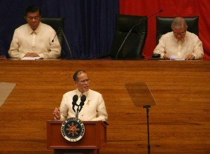 In front of lawmakers, President Benigno Aquino III on Monday, July 28, highlighted the benefits of the controversial Disbursement Acceleration Program – declared partially unconstitutional by the Supreme Court – at the start of his fifth State of the Nation Address.(MNS photo)