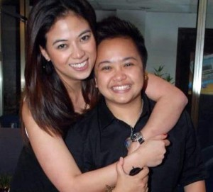 Aiza Seguerra and fiancee Liza Diño (MNS Photo)
