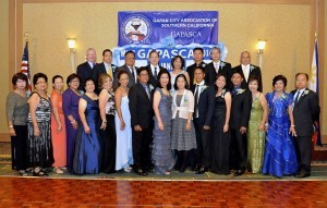 The first set of GAPASCA officers with Nueva Ecija Vice Gov. GP Padiernos and Vice Consul Mary Joy Ramirez.