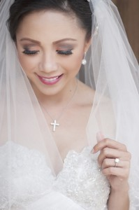 Bride's make up by Marlou Colina of Colina Salon