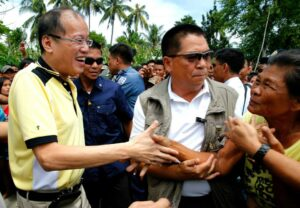 President Benigno S. Aquino III receives a warm welcome from the locals during the Inauguration of the Ninoy Aquino Bridge and its Connecting Road Networks in Barangay San Luis, Tuao, Cagayan on Monday (August 18, 2014). The newly constructed 360-meter Ninoy Aquino Bridge across the Chico River, costs P599.40 million, is connected to two other small bridges, the 40-meter Malummin and the 20-meterAngag bridge.
