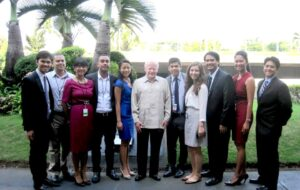 A previous FYLPRO delegation with the program's initiator, Ambassador Jose L. Cuisia Jr. FYLPRO PHOTO