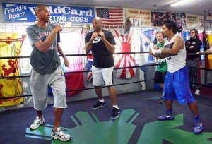 Charles Barkley & Reggie Miller: Toe to Toe with Manny Pacquiao. TNT analysts and NBA Hall of Famers Charles Barkley and Reggie Miller when the two spent a day with Manny Pacquiao at the Wild Card Gym in Hollywood, Calif., where he is training for his fight against Juan Manuel Márquez that he lost via a one-punch knockout.