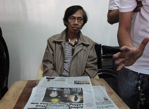 Retired Maj. Gen. Jovito Palparan is presented to the media after he was arrested by National Bureau of Investigation agents at a house in Sta. Mesa, Manila before dawn Tuesday, August 12. A Bulacan court issued in 2011 an arrest warrant against Palparan, who is charged with two counts of kidnapping and serious illegal detention of University of the Philippines students Sherlyn Cadapan and Karen Empeño. (MNS photo)